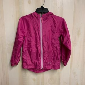 LL Bean Pink Zip Rain Jacket/ Wind Breaker…